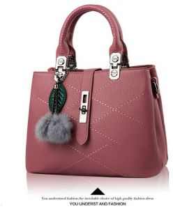 e6606f7e33 Sweet and Stylish fringed hair ball decorative leisure handbag Messenger bag  for women WB79