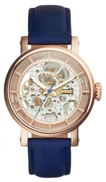 a16a98dc0 Fossil Original Boyfriend Women's Rose Gold Dial Leather Band Automatic  Watch - ME3086