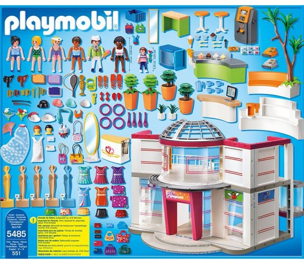 Playmobil furnished shopping mall 5485 pretend play toy - Toutes les maisons playmobil ...
