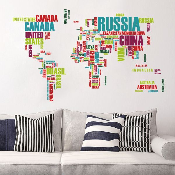 English letter world map wallpapers baby bedroom home decorative this item is currently out of stock gumiabroncs Images