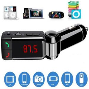 Black LCD Wireless Bluetooth Car Kit MP3 Player FM Transmitter Modulator USB SD MMC