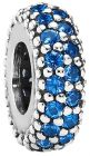 Pandora Women's Silver Pave Spacer Charm - 791359NCB (Charm)