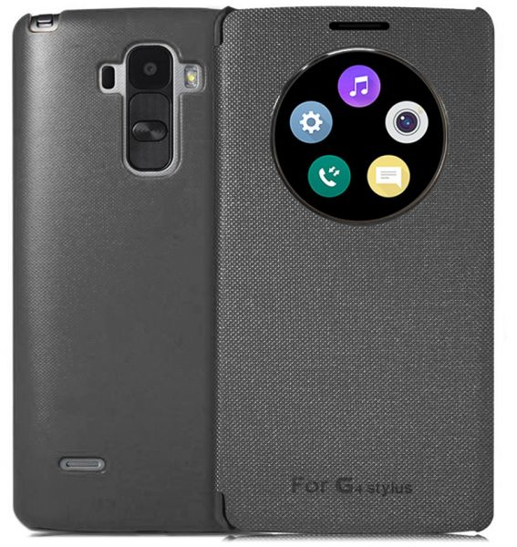 promo code 6aa1f 8d1c7 Circle View Flip Cover for LG G4 Stylus - Black