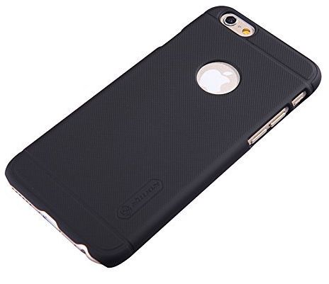 apple iphone 6 black. nillkin frosted shield phone case cover for apple iphone 6/6s with screen guard - black iphone 6 d