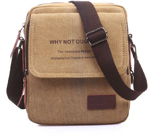 c5a654cd75d4 Fashion Shoulder Bag For Men Stylish Brown Canvas Crossbody Bag Korean Style  HandBag For Male