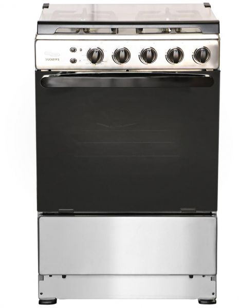 Super General Oven With 4 Gas Cooker Silver Sgc 601 Fs