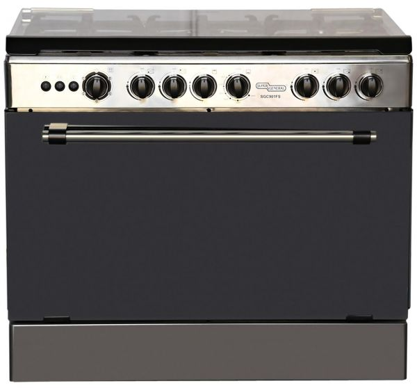 Souq Super General Oven With 5 Gas Cooker Silver Sgc
