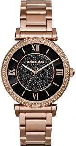 f39937f77f9d Michael Kors Catlin Watch for Women - Analog Stainless Steel Band - MK3356