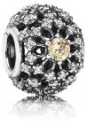 Pandora Women's Silver Openwork Golden Abstract Spacer Charm - 791370CCZ (Charm)
