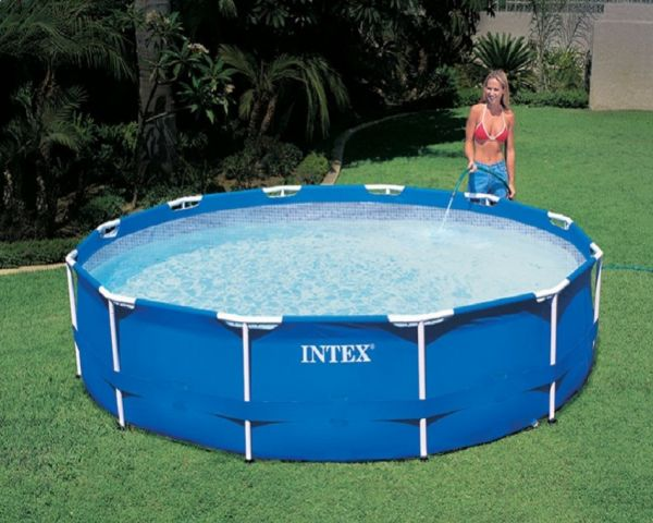 souq intex outdoor swimming pool 366 x 76 cm uae. Black Bedroom Furniture Sets. Home Design Ideas
