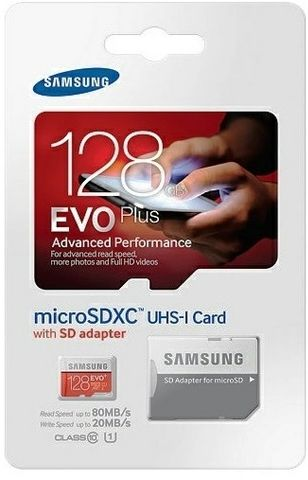 samsung 128gb micro sd. samsung 128gb evo plus microsd class 10 up to 80mb/s with adapter - mb-mc128d 128gb micro sd