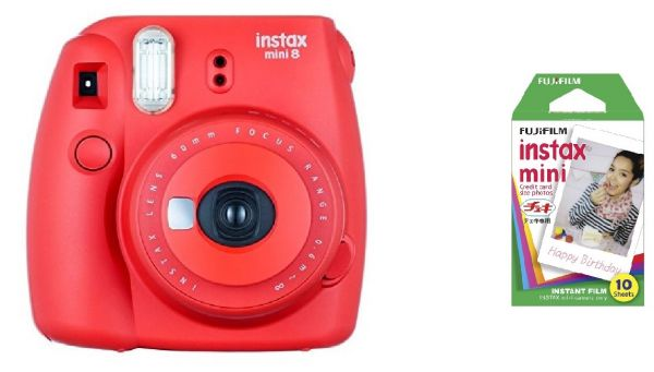 Fujifilm Instax Mini 8 Instant Polariod Film Camera - Raspberry ...