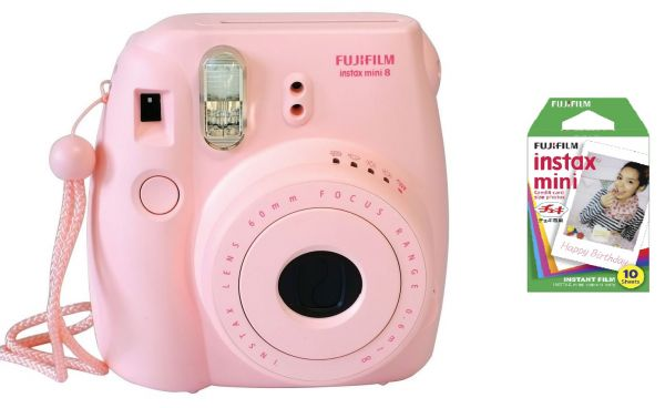 Fujifilm Instax Mini 8 Pink with 1 Pack of Instax Mini Film ...