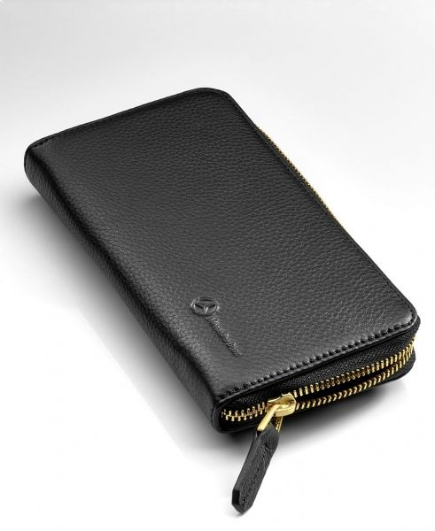 Buy mercedes benz luxury womens leather wallet black for Mercedes benz wallet