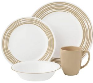 Corelle Vitrelle Glass Brushed Sand Dinnerware Set - 16 Pieces  sc 1 st  Souq.com & Sale on corelle 32 piece dinnerware set Buy corelle 32 piece ...