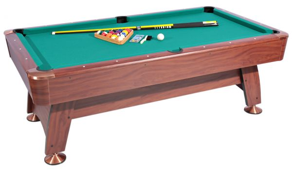 roma italy billiard table and accessories set - 06150101, brown