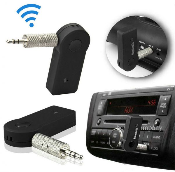 Wireless Car Bluetooth Receiver Adapter 3.5MM AUX Audio Stereo Music Home Hands-free