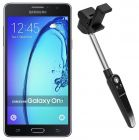 Samsung Galaxy On7 Dual Sim - 8GB, 4G LTE, Black with Itvers Welfie Robostick (Mobile Phone)