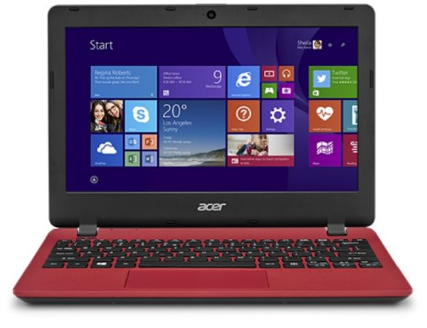 Acer Aspire ES1-131 Laptop - Intel Celeron 2957U, 15.6 Inch, 500GB, 2GB,  Win 10 , Red