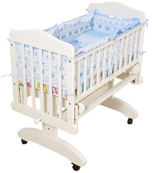 Souq mon ami baby swing crib cradle and soft cushion for Baby bed with wheels