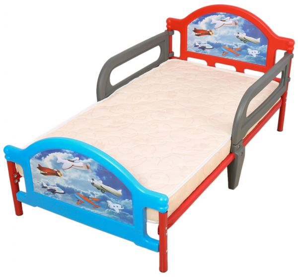 Mon Ami Aero Toddler Bed With Mattress Multi Color