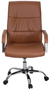 AFT Leather Office Chair with Wheel - Brown