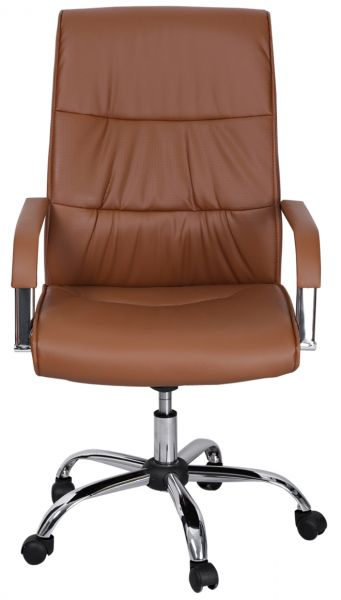 Aft Leather Office Chair With Wheel Brown