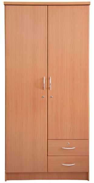 Aft Wooden 2 Door Lock Cabinet, Brown, price, review and buy in ...