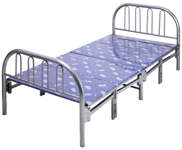 Souq aft metal foldable bed 190 x 90 cm uae for Round bed designs with price