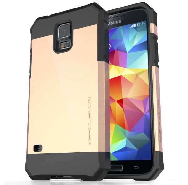sneakers for cheap 61936 d87b7 Samsung Galaxy S5 Slim Case, ZeroLemon Razor Armor Dual Layer Protective  Case for Galaxy S5