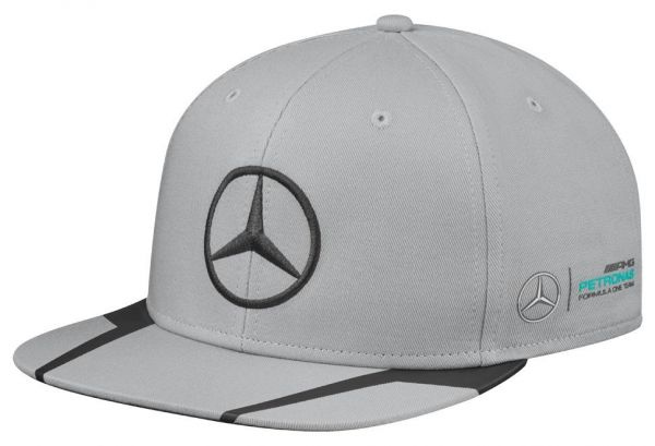 Buy mercedes benz lewis hamilton snap back cap grey hats for Mercedes benz caps hats