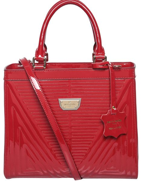 Pierre Cardin F 00054543 Satchels Bag For Women Leather Red