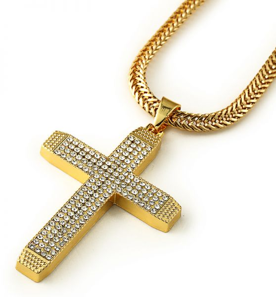 Fashion 18k cross jewelry chain hip hop necklace pendant for man fashion 18k cross jewelry chain hip hop necklace pendant for man woman aloadofball Images