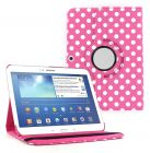 Pink Polka Dot 360 Rotating PU Leather Case Cover Stand For Samsung Galaxy Tab 4 10.1 inch T530 (Tablet Accessory)