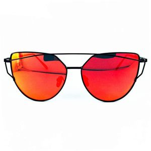 717c4ccc684 Buy aviator style sunglasses silver metal frame red mirror lens owl ...