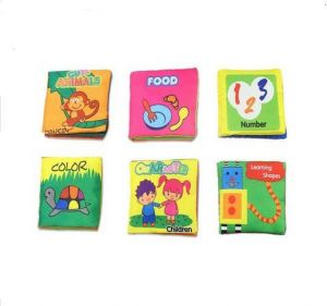 XD-1 Baby Soft Fabric Cloth Book Set of 6 Nontoxic for 0-3yrs Old Babies