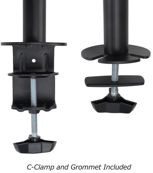 Souq Dual Monitor Arms Fully Adjustable Desk Mount Stand