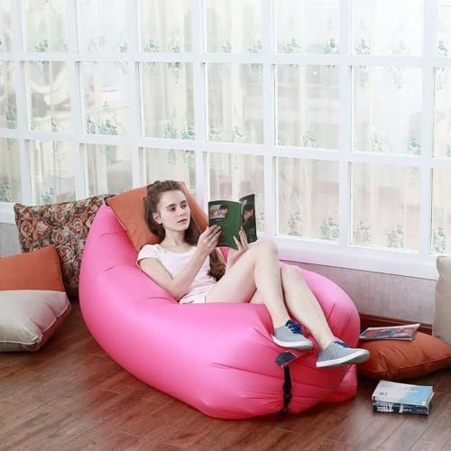 Pink Portable Inflatable Sofa Air Bed Lounger Chair Outdoor Sleeping Bag Mattress ETH 05 Price Review And Buy In Dubai Abu Dhabi Rest Of United