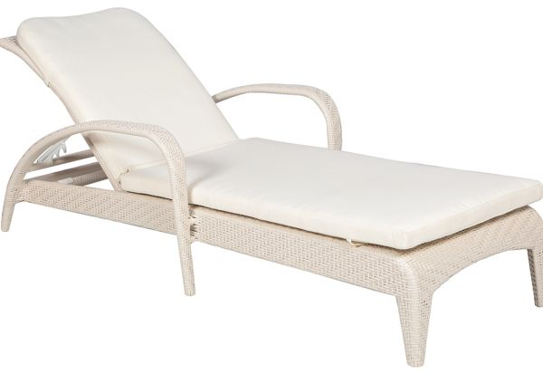 Danube Home Primo Sunbed With Cushion Off White Price Review And Buy In Dubai Abu Dhabi And