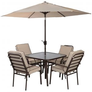 danube home furn im jhf 6 piece dining set beigebrown