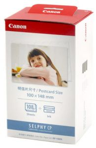For SELPHY CP - Canon KP-108IN Color Ink Paper Set Postcard Size 100x1...