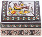 Wooden Hand Painted Box - AM-06-048 -44 ,Multi Color (Storage & Organization)