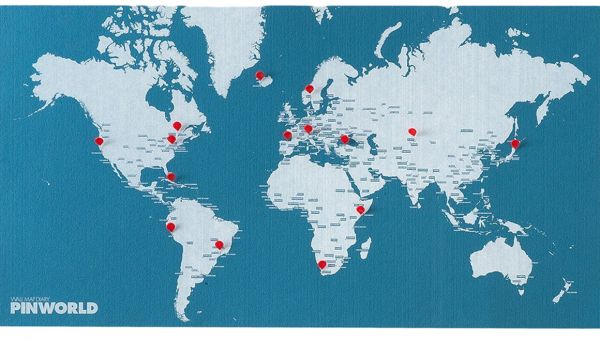 Palomar Pin World Wall Map Mini Light Blue price review and buy