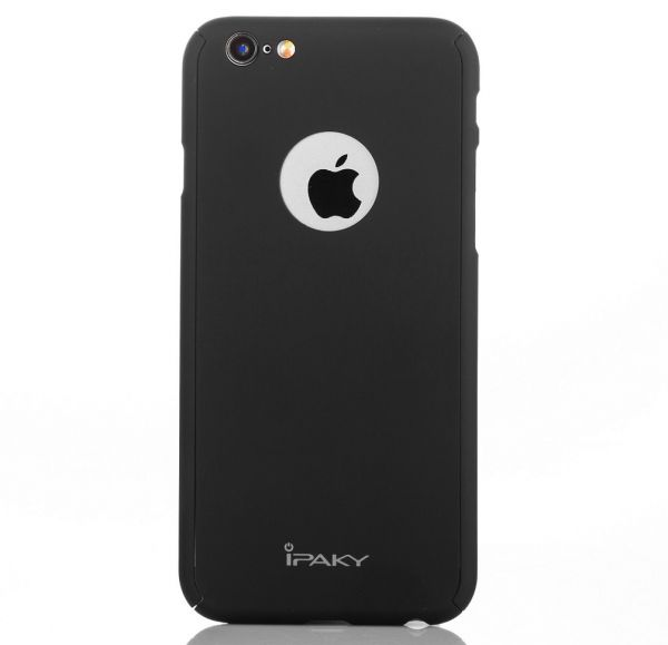 new arrival c3bec bdf33 iPhone 6/6s Plus - iPaky 360 Full Protection Case with Glass Screen  Protector (Apple cutout) – Black