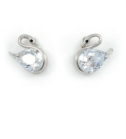 Swarovski Elements 18k White Gold Plated Stud Earring Swr 012