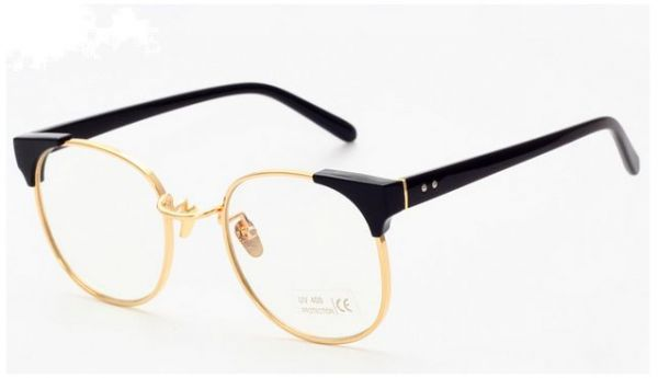 Souq | Retro Inspired Classic Half Frame Wayfarers Clear Lens ...