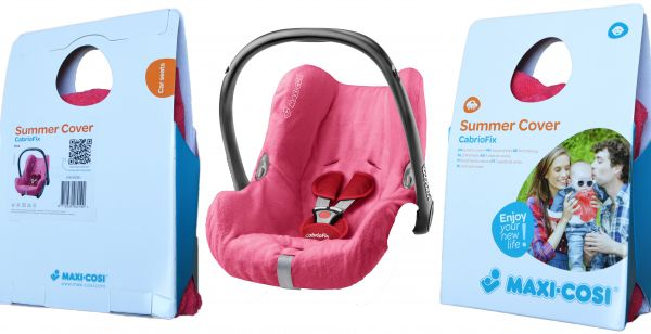 Maxi Cosi 61408080 CabrioFix Baby Car Seat Summer Cover Pink