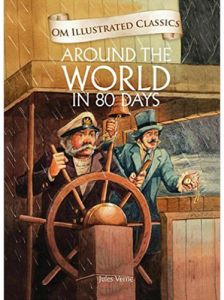 Around the World in 80 days by Jules Vernes - Hardcover