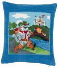Feiler Cats in Boots Chenille Pillow Cover - Multi Color, 37 x 40 cm (Decorative Pillow & Cushion)
