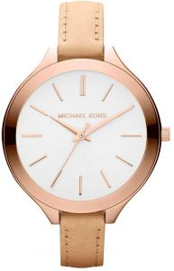 219280ca90d1 Michael Kors Slim Runway Watch for Women - Analog Leather Band - MK2284